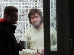 Etienne au café, faisait vrai froid ce jour-là...