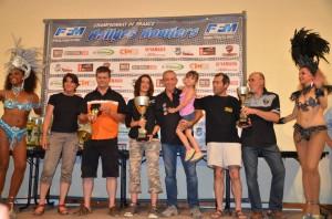 Le podium du championnat de France