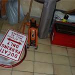 Le matos mécanique faisait de même dans le garage...